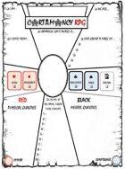 CARTOMANCY RPG, the Flyer
