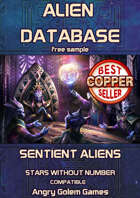 Stars Without Number Alien Database (free sample)
