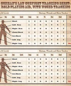 Gunman's Law Wound Tracking Card