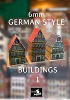 6mm GERMAN STYLE BUILDINGS  1