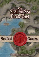 Seafoot Games - Pirate Cove in the Shallow Sea (40x40 Battlemap)
