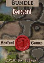 Seafoot Games - Boneyard | 20x30 Battlemap [BUNDLE]