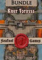 Seafoot Games - River Fortress | 20x30 Battlemap [BUNDLE]