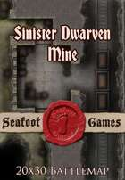 Seafoot Games - Sinister Dwarven Mine   20x30 Battlemap