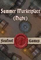 Seafoot Games - Summer Marketplace (Night)   20x30 Battlemap