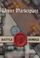 Seafoot Games - Winter Marketplace | 20x30 Battlemap [BUNDLE]