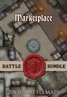 Seafoot Games - Marketplace | 20x30 Battlemap [BUNDLE]