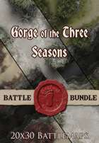 Seafoot Games - Gorge of the Seasons | 20x30 Battlemap [BUNDLE]