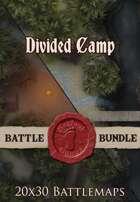 Seafoot Games - Divided Camp | 20x30 Battlemap [BUNDLE]