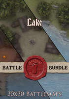 Seafoot Games - Lake | 20x30 Battlemap [BUNDLE]