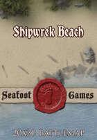 Seafoot Games - Shipwreck Beach | 20x30 Battlemap