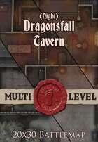 Seafoot Games - Dragonsfall Tavern | Night | 20x30 Battlemap
