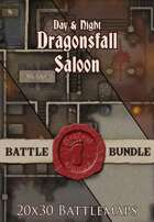 Seafoot Games - Dragonsfall Saloon | 20x30 Battlemap [BUNDLE]