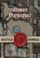 Seafoot Games - Ultimate Marketplace    20x30 Battlemap [BUNDLE]