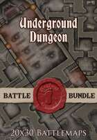 Seafoot Games - Underground Dungeon | 20x30 Battlemap [BUNDLE]