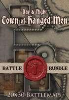 Seafoot Games - Town of Hanged Men | 20x30 Battlemap [BUNDLE]