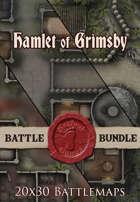 Seafoot Games - Hamlet of Grimsby 2 | 20x30 Battlemap [BUNDLE]