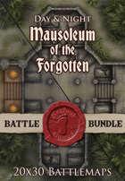 Mausoleum of the Forgotten Night | 20x30 Battlemap [BUNDLE]