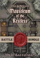 Mausoleum of the Restless | 20x30 Battlemap [BUNDLE]