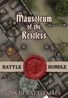 Mausoleum of the Restless 2 | 20x30 Battlemap [BUNDLE]