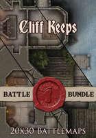 Cliff Keeps | 20x30 Battlemaps [BUNDLE]