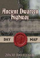 Seafoot Games - Ancient Dwarven Highway   20x30 Battlemap