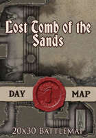 Seafoot Games - Lost Tomb of the Sands | 20x30 Battlemap