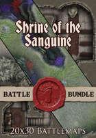 Shrine of the Sanguine | 20x30 Battlemap [BUNDLE]