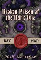 Seafoot Games - Broken Prison of the Dark One | 20x30 Battlemap