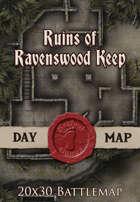 Seafoot Games - Ruins of Ravenswood Keep| 20x30 Battlemap