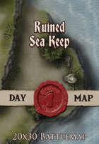 Seafoot Games - Ruined Sea Keep Camp | 20x30 Battlemap