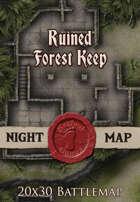 Seafoot Games - Ruined Forest Keep | 20x30 Battlemap