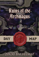 Seafoot Games - Ruins of the Archmagus | 20x30 Battlemap