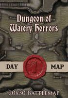 Seafoot Games - Dungeon of Watery Horrors | 20x30 Battlemap