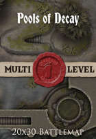 Seafoot Games - Pools of Decay | 20x30 Battlemap