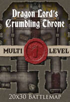 Seafoot Games - Dragon Lord's Crumbling Throne | 20x30 Battlemap