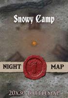 Seafoot Games - Snowy Camp | 20x30 Battlemap