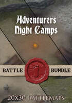 Adventurers Night Camps | 20x30 Battlemap [BUNDLE]