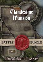 Clandestine Mansion | 20x30 Battlemaps [BUNDLE]