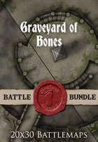 Graveyard of Bones | 20x30 Battlemap [BUNDLE]