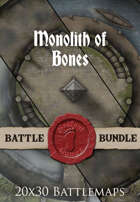 Monolith of Bones | 20x30 Battlemap [BUNDLE]