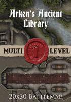 Seafoot Games - Arken's Ancient Library | 20x30 Battlemap