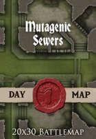 Seafoot Games - Mutagenic Sewers | 20x30 Battlemap