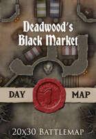 Seafoot Games - Deadwood's Black Market | 20x30 Battlemap