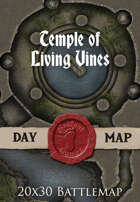 Seafoot Games - Temple of Living Vines | 20x30 Battlemap