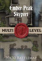 Seafoot Games - Ember Peak Skyport | 20x30 Battlemap