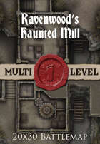 Seafoot Games - Ravenwood's Haunted Mill | 20x30 Battlemap