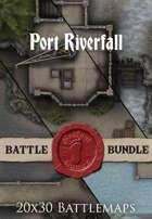 Port Riverfall | 20x30 Battlemaps [BUNDLE]