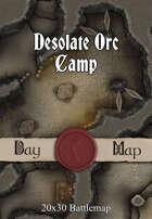 Seafoot Games - Desolate Orc Camp | 40x30 Battlemap