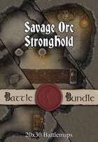 Savage Orc Stronghold | 40x30 Battlemaps [BUNDLE]